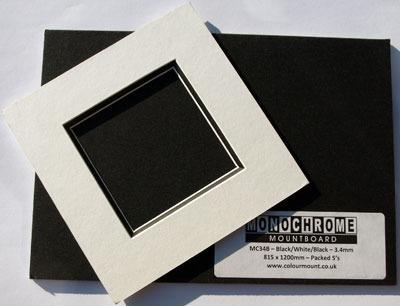 Karton dekoracyjny Colourmount Monochrome White/Black/White - 2.3 mm