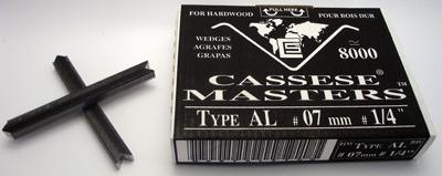 S111 - 1 pasek - Klamry AL 7mm  do twardego drewna firmy Cassese