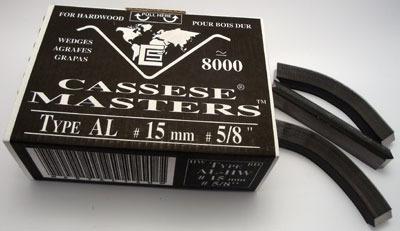 S14 - Klamry AL 15mm  do twardego drewna firmy Cassese