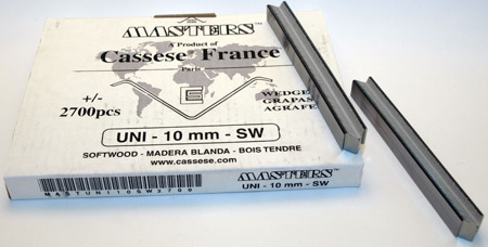 S16XS - Klamry UNI 10 mm  do miękkiego drewna firmy Cassese